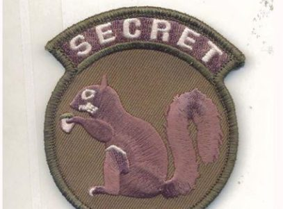 Secret Squirrel Patch – Plastic Backing