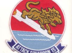 VA-15 Valions Squadron Patch – Plastic Backing
