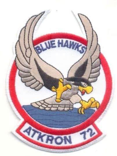 VA-72 Blue Hawks Squadron Patch – Plastic Backing