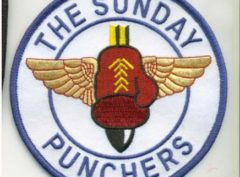 VA-75 Sunday Punchers Squadron Patch – Plastic Backing