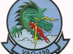 VAQ-130 Zappers Squadron Patch – Plastic Backing