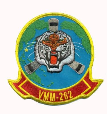 VMM-262 Flying Tigers Squadron Patch – Plastic Backing