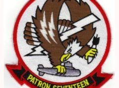 VP-17 White Lightnings Squadron Patch – Plastic Backing