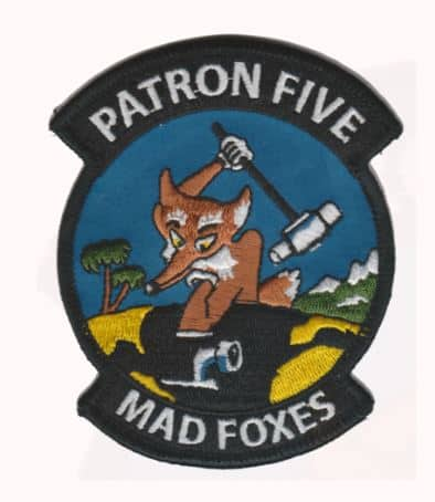 VP-5 Madfoxes Squadron Patch – Plastic Backing