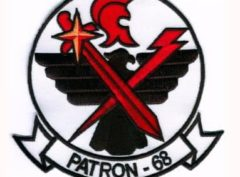 VP-68 Blackhawks Squadron Patch – Plastic Backing