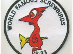 VS-33 Screwbirds Squadron Patch – Plastic Backing