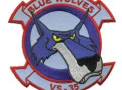 VS-35 Blue Wolves Squadron Patch