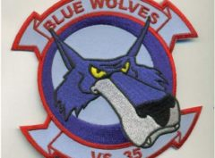 VS-35 Blue Wolves Squadron Patch – Plastic Backing