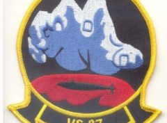 VS-37 Sawbuck Squadron Patch – Plastic Backing