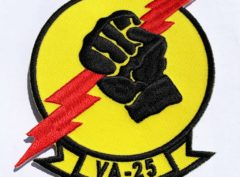 VA-25 Fist of the Fleet Squadron Patch – Plastic Backing