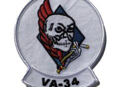 VA-34 Blue Blasters Squadron Patch – Plastic Backing