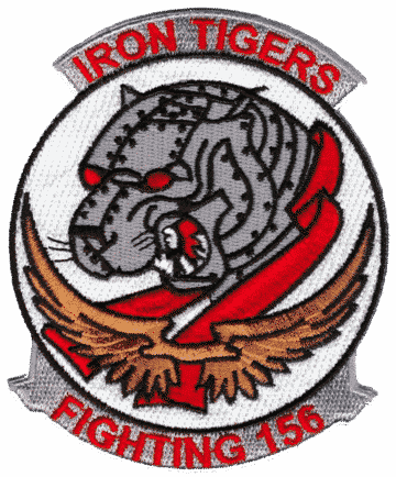 VA-156 Iron Tigers Squadron Patch – Plastic Backing