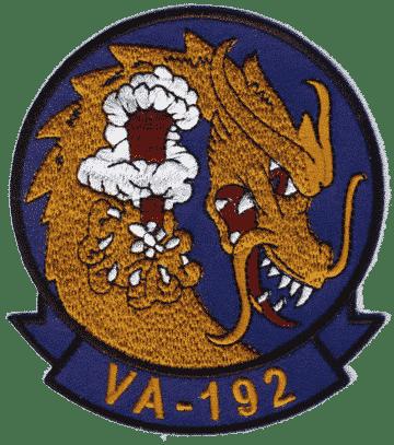 VA-192 Golden Dragons Squadron Patch – Plastic Backing