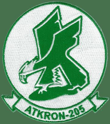 VA-205 Green Flacons Squadron Patch – Plastic Backing