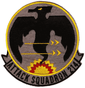 VA-214 Volunteers Squadron Patch – Plastic Backing