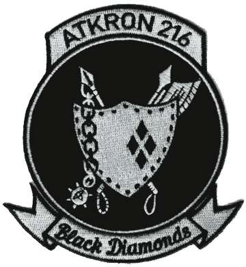VA-216 Black Diamonds Squadron Patch – Plastic Backing