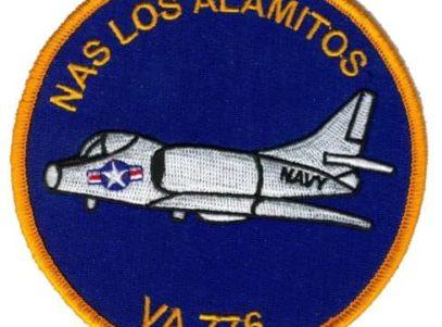 VA-776 NAS Los Alamitos Squadron Patch – Plastic Backing