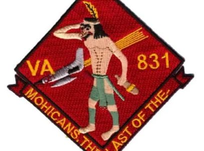 VA-831 Mohicans Squadron Patch – Plastic Backing