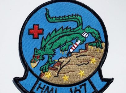 HML-167 Warriors Patch – Plastic Backing