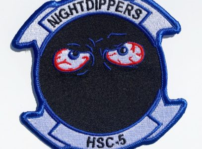 HSC-5 Nightdippers Squadron Patch – Plastic Backing