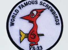 VS-33 Screwbirds Squadron Patch – Plastic Backing