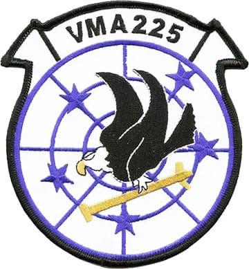 VMA-225 Squadron Patch – Plastic Backing