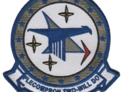 VC-2 Blue Falcons Squadron Patch – Plastic Backing