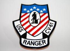 USS Ranger CV-61 Plaque