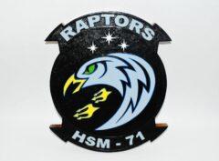 HSM-71 Raptors Plaque