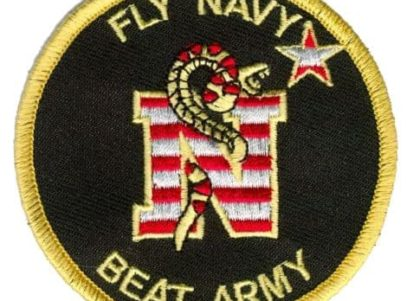 Fly Navy Beat Army Patch – Plastic Backing