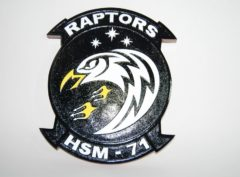 HSM-71 Raptors Plaque
