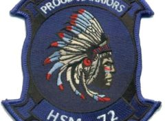 "HSM-72 Proud Warriors ""Big Chief"" Squadron Patch – Plastic Backing"
