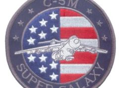 USAF C-5M Super Galaxy Patch – Plastic Backing