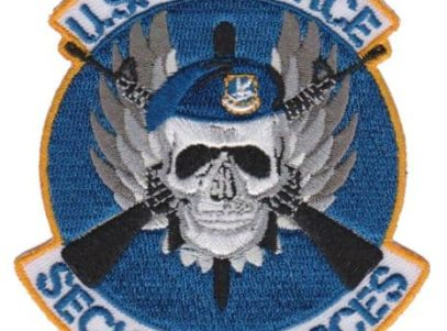 USAF Security Forces Patch – Plastic Backing