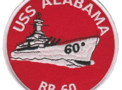 USS Alabama BB-60 Patch – Plastic Backing