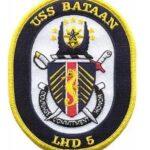 USS Bataan LHD 5 Patch – Plastic Backing