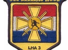 USS Belleau Wood LHA-3 Patch – Plastic Backing