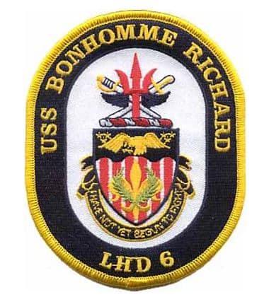 USS Bonhomme LHD-6 Patch – Plastic Backing
