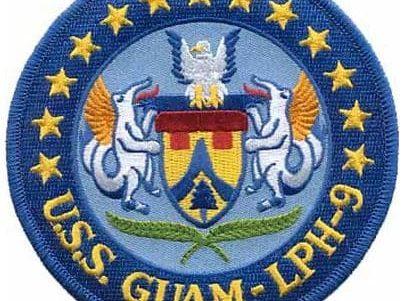 USS Guam LPH-9 Patch – Plastic Backing
