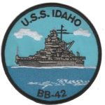 USS Idaho BB-42 Patch – Plastic Backing
