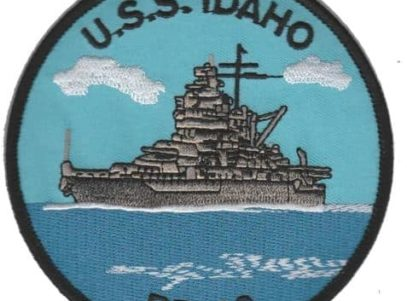 USS Idaho BB-42 Patch – Plastic Backing