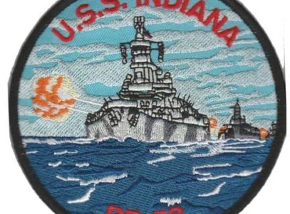 USS Indiana BB-58 Patch – Plastic Backing