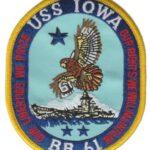 USS Iowa BB-61 Patch – Plastic Backing