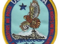 USS Iowa BB-61 Patch – Plastic Backing