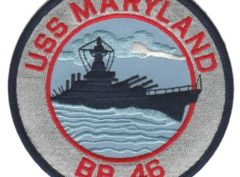 USS Maryland BB-46 Patch – Plastic Backing
