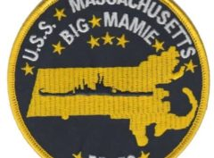 USS Massachusetts BB-59 Patch – Plastic Backing