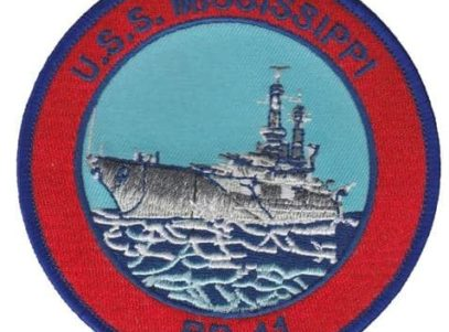 USS Mississippi BB-41 Patch – Plastic Backing