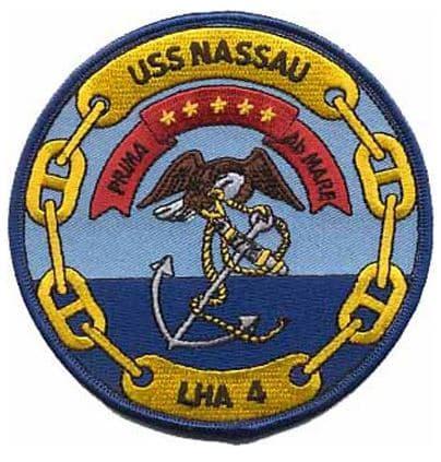 USS Nassau- LHA-4 Patch – Plastic Backing