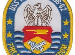 USS New Jersey BB-62 Patch – Plastic Backing