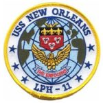 USS New Orleans LPH-11 Patch – Plastic Backing